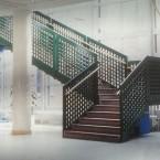 pelare och trappa i Vrinnevisjukhuset